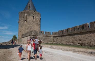 Carcassonne avec ma tribu